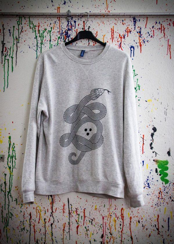 sweater, sweatshirt, screen printing